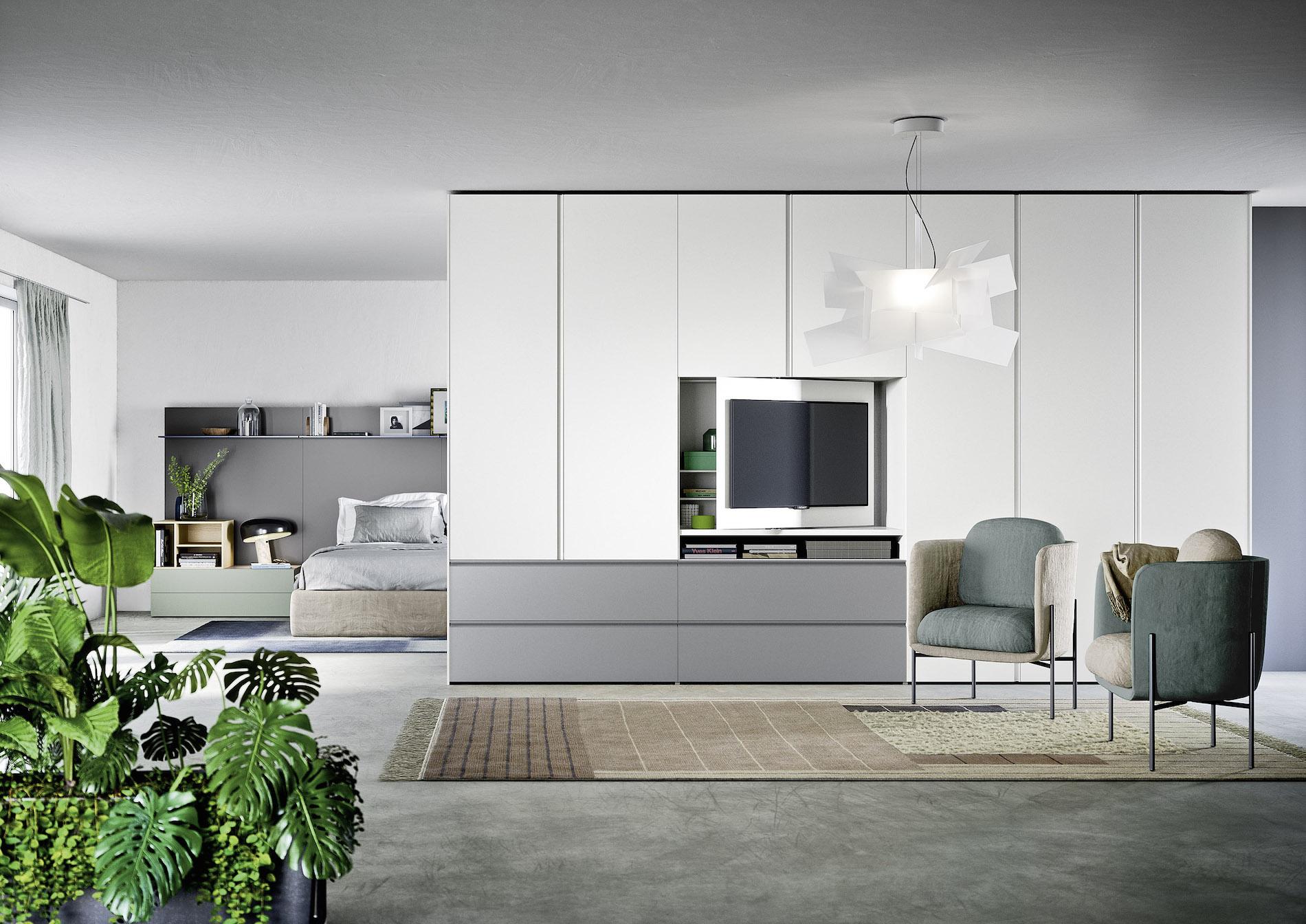 Guardaroba Con Porta Tv.Gola Armadio Porta Tv Di Design Novamobili