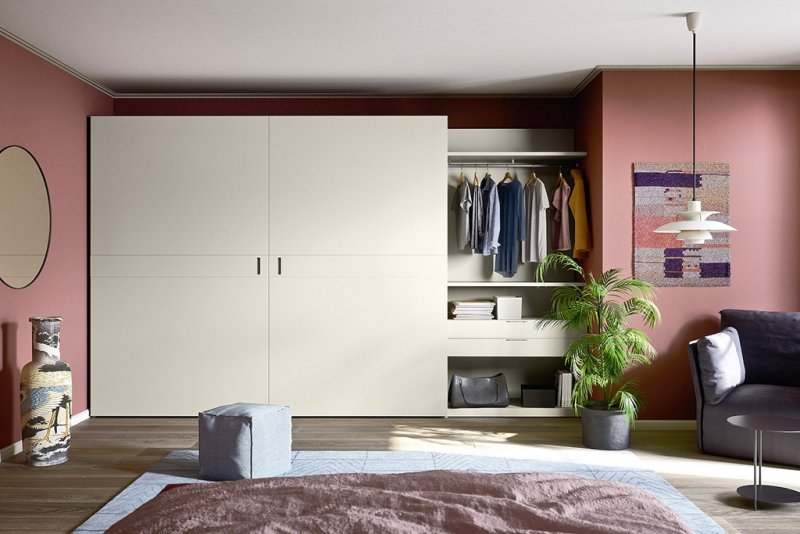 flush-closing design wardrobes