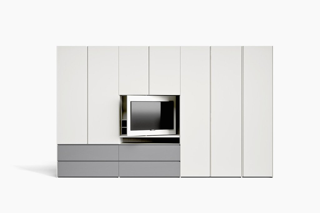 Hinged door Gola with TV mounting panel