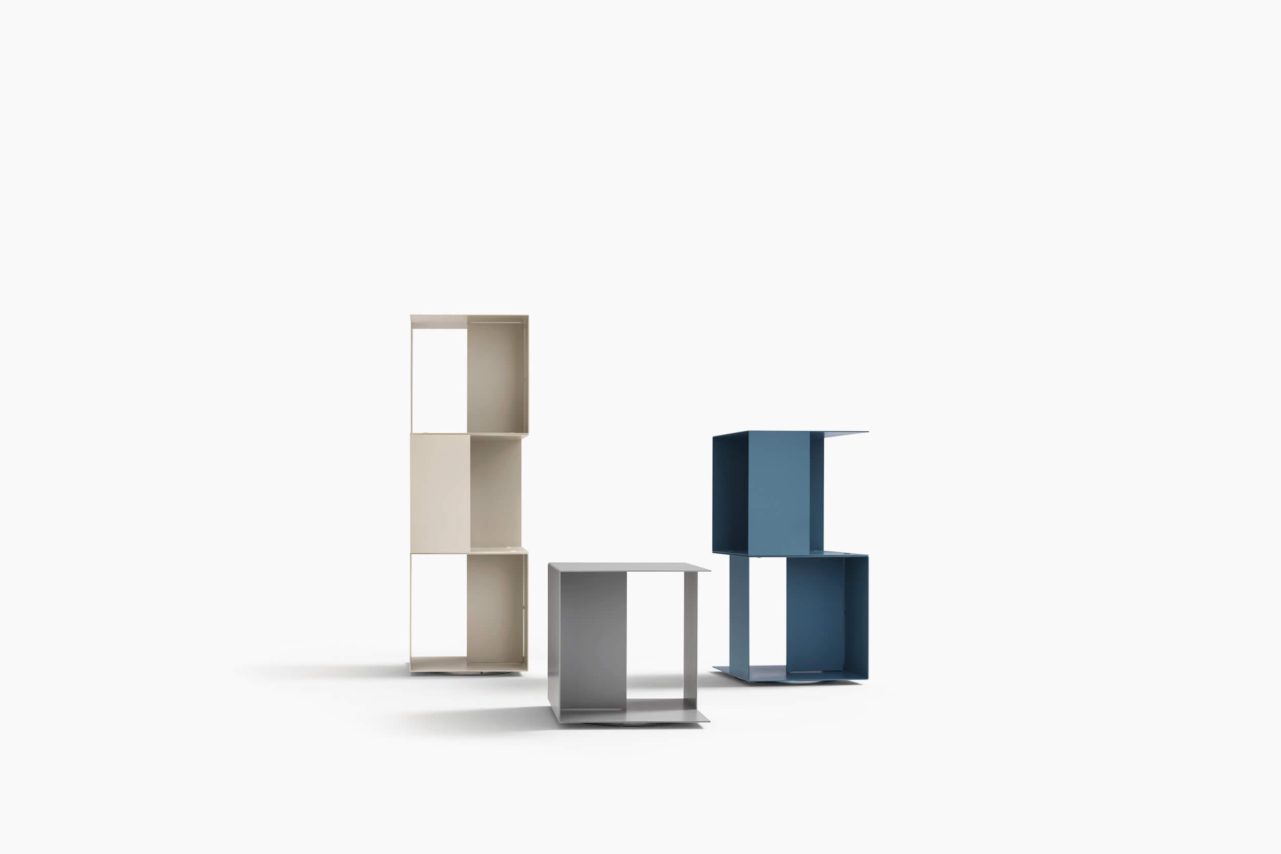 Librerie In Metallo Componibili.Libreria Componibile A Cubi Di Design Freebook Novamobili